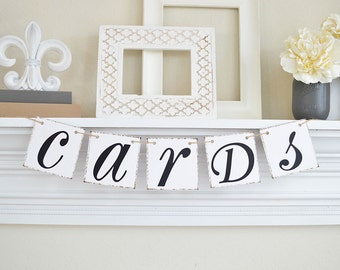Cards Banner - Wedding Reception Banner- Wedding Banner - Cards Sign- Card Holder or Customize it