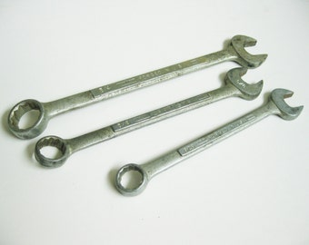 Vintage Tools 3 Craftsman Wrenches Father's Day Gift Antique Craftsman Wrenches Forged in USA Home and Living Shop Tools Destash