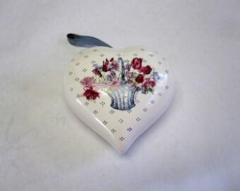 Heart Pomander Sachet Potpourri Lingerie Drawer Freshener Rose