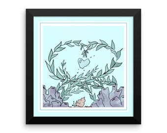 Undersea Love Framed poster