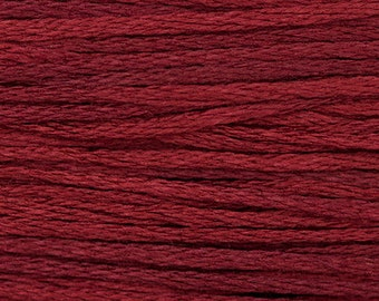 MERLOT 1334 Weeks Dye Works WDW hand-dyed embroidery floss cross stitch thread at thecottageneedle.com