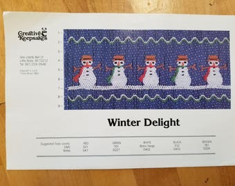 Winter Delight smocking design plate by Creative Keepsakes