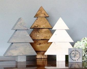 Rustic Trees - Wood Christmas Trees - Wooden Christmas Tree - Rustic Christmas Decor -  Wood Tree - Wooden Tree