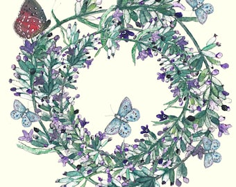 Butterflies and Lavender Cream