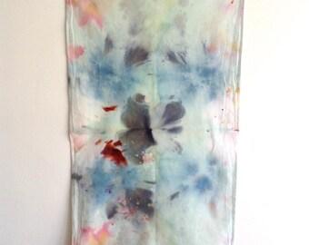 Hand Dyed Abstract Art Tea Towel