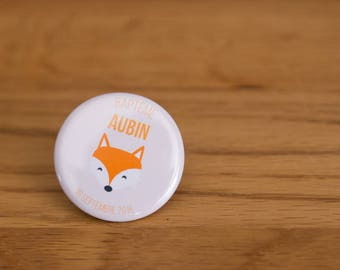 Badge - Theme autumn animals - 32 mm - button badges