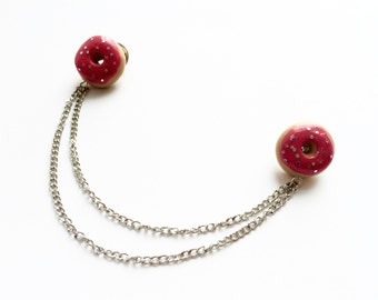 Donut Collar Brooch with Sparkle Sprinkles