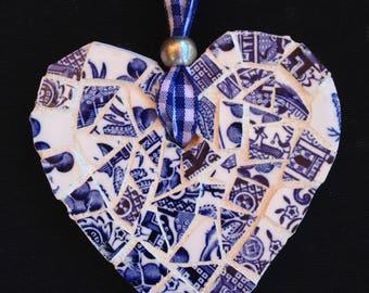 Mosaic Heart - Blue
