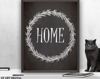 Home Art Print instant Download Printable Art Print Digital Art Print Typography Print Home Print Home Digital Print Printable Home Wall Art