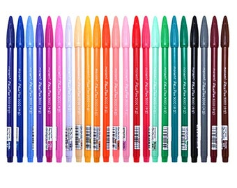 Set of 24 Assorted color Korean kawaii cute stationery  DIY painting drawing watercolor marker pen brush for  text liner, scrapbook