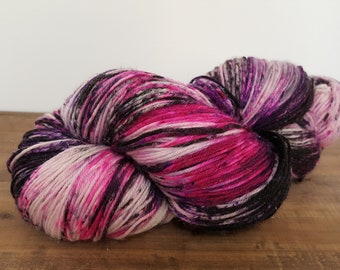 Twinkle Toes- Hand Painted-Hand Dyed- Superwash Merino- Glitz- Nylon- Fingering weight yarn- 463yards- Toil & Trouble