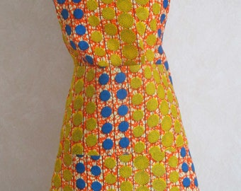 Mixed Wax or African fabric apron