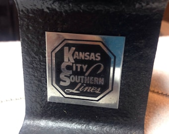 Kansas City southern lines railroad track pen holder and paperweight