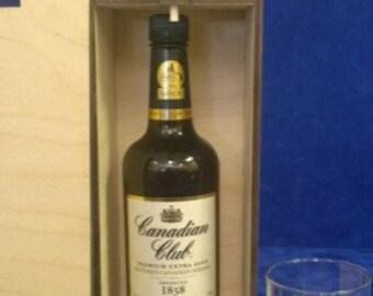 Single Bottle Short 750 ML Wood Spirits Box-Personalized Wood Spirits box-Engraved single bottle spirits-spirits gift box-best man-wedding