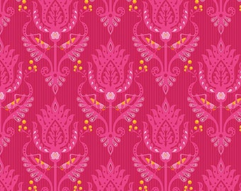 Primavera Damask in Pink Cotton Fabric by Patty Young for Riley Blake