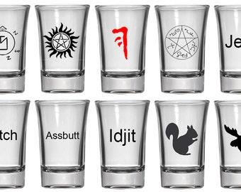 1.5oz Shot Glass   Supernatural