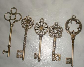 Large Keys - Bronze Set of 5