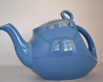 Blue Teapot - Hall Pottery