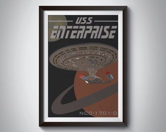 Star Trek Travel Poster: Enterprise D | Instant Download