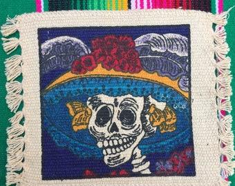 Dia de Los Muertos Coasters Set of 4 - La Catrina - Dancing Skeletons - Cinco de Mayo
