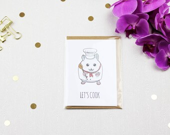 Let's Cook - Hamster Greeting Card with Envelope