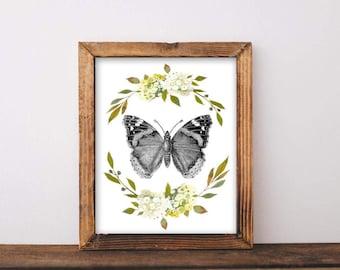 Butterfly, printable, butterfly art, butterfly print, butterfly picture, butterfly printable, butterfly wall art, butterfly wall decor