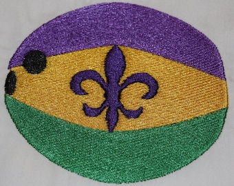 Mardi Gras Coconut machine embroidery design
