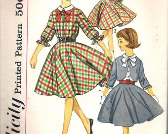 """Vintage  1963 Simplicity 4631 Girl's Skirt, Blouse & Jacket Sewing Pattern Size 8 Breast 26"""""""