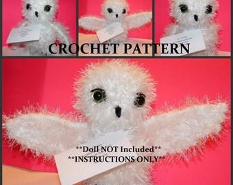 Snowy Messenger Owl  Crochet PATTERN