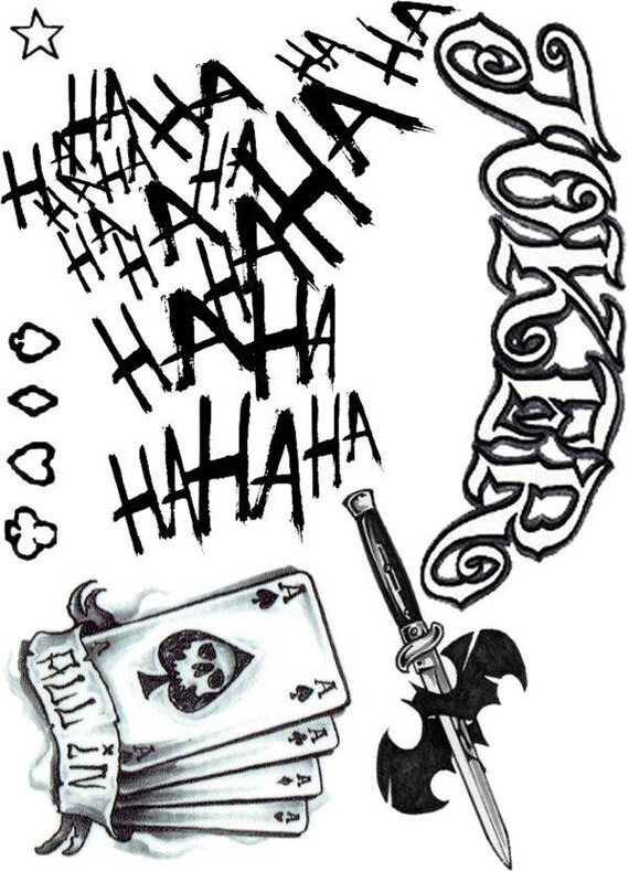 Joker Suicide Squad tattoos hahaha all in Joker