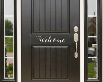 Front Door Decal Welcome Welcome Decal Welcome Decals Vinyl Decal Welcome Sign Welcome Door Decal Door Decal Door Vinyl Sing Home & Hello Vinyl Door Decal Hello Front Door Decals Hello Home