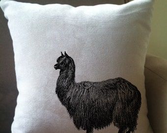 alpaca decorative throw pillow cover