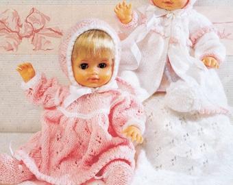 PDF Pattern Doll's Layette/ Instant PDF Digital Download Vintage Knitting Pattern – A117