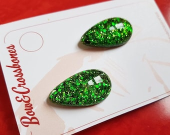 Lisa Marie teardrop earrings - Green