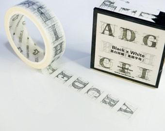 Washi tape (washi) Alphabet bullet journal / scrapbooking