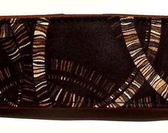 Swirls on Black -Martingale Collar-