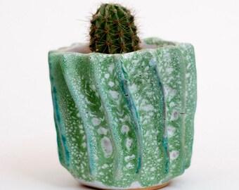 Handmade  ceramic spiky cactus planter, Ceramics and Pottery , plant pot, planter, flower pot, succulent pots, cactus pot, ceramic planter