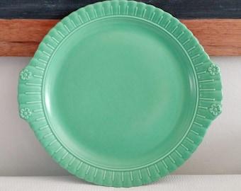 Vintage Vistosa Taylor Smith and Taylor Jade Green Platter