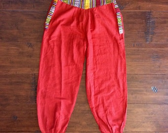 India Cotton Pants with Front Zipper Pocket {xs-sm}