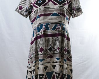 Vintage tribal print summer dress