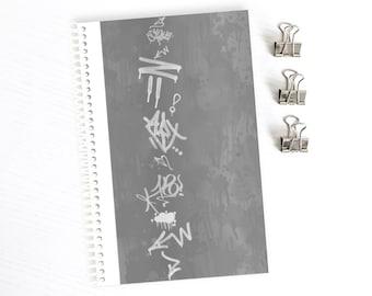 Graffiti-Kunst-Notebook, Urban Skizzenbuch, Bullet Journal, Freundin oder Freund Geburtstagsgeschenk unter 15, unterirdischen Hip Hop