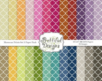 Moroccan Prints Digital Paper Pack Commercial Use