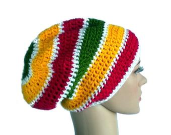 Dreadlock beanie, rastafari hat, rasta hat, Jamaica reggae beanie, rasta clothing