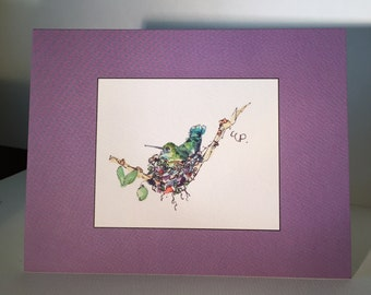 Set of Six Printed Cards /From Original Watercolor Cards