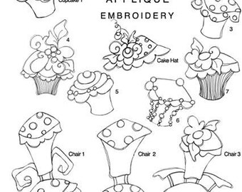 Hey Cupcake II Applique Embroidery Design Collection - CD