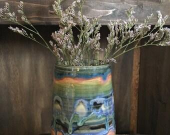 Rainbow Stripe Vase