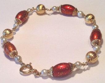 18k Yellow Gold Antique Bracelet 11.4gr