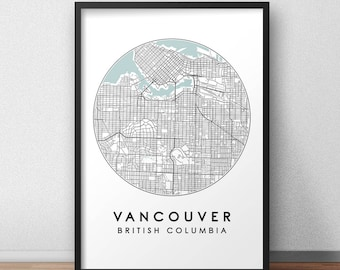 Vancouver map etsy vancouver city print street map art vancouver map poster vancouver map print gumiabroncs Choice Image