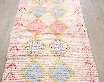Boucherouite Rug, Wedding gift, Wedding decor, Moroccan Rug, Berber Rug, Kids Rug, Tapis Boucherouite, Tapis Berbère, Boucherouite Teppich