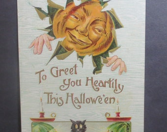 Antique Gottschalk Halloween Postcard 1908